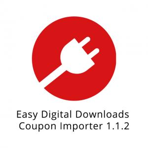 Easy Digital Downloads Coupon Importer 1.1.2