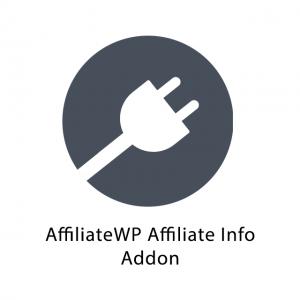 AffiliateWP Affiliate Info Addon 1.0.5