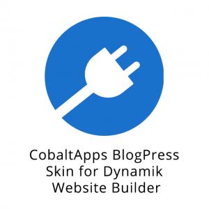 CobaltApps BlogPress Skin for Dynamik Website Builder 1.0.0