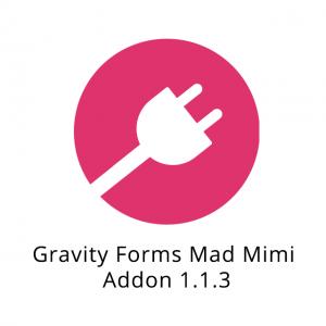 Gravity Forms Mad Mimi Addon 1.1.3