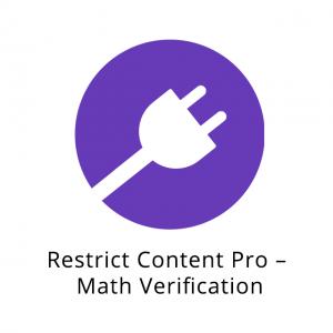 Restrict Content Pro – Math Verification 1.0.2