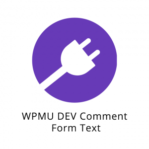 WPMU DEV Comment Form Text 1.0.2