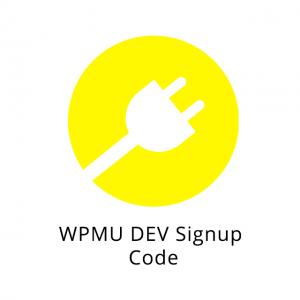 WPMU DEV Signup Code 1.0.3.3