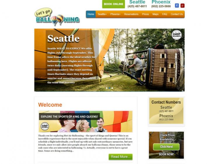 Hot Air Balloon Rides Seattle, WA & Phoenix, AZ – Letsgoballooning.com